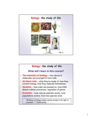 Biology Is life Chapter 1-2 Handout