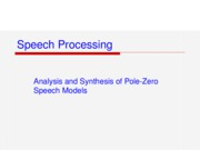 Ch5-Analysis_&_Synthesis_of_Pole-Zero_Speech_Models