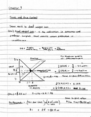 Ch. 7 Price Control Notes