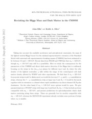 6 Revisiting the Higgs Mass and Dark Matter in the CMSSM by John Ellis and Keith A.  Olive