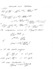 PHYS 4300 Homework and Solutions 8