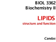 Chp 8 STRUCTURE AND FUNCTION OF LIPIDS