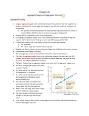 Aggregate Supply and Demand Notes