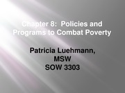 SOW 3303 Chapter 8 Policies and Programs to Combat Poverty
