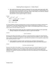 Mastering Physics Assignment 2 – Modern Physics.docx