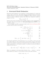 Structural Model Estimation_ Simulated Method of Moments