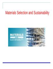 Week-10 Materials Selection and Sustainability_1_.pdf