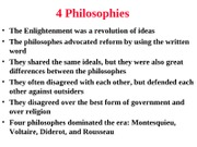 Four Philosophies
