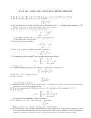 Math16B - Spring 09 Final Review Questions