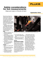 electrical safety for live measurements