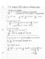 Section 3.6 Notes- Calculus