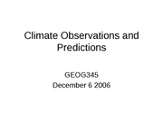 24 Climate Observations and Predictions