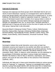 Ingroups & Outgroups Research Paper Starter - eNotes