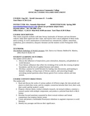WL II Syllabus Spring 2009 New