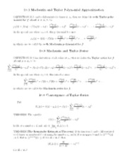 Polynomial approximation notes