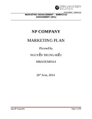 assignment Marketing managerment - Nguyen Trung Hieu