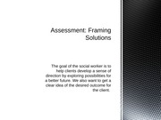 SW 3050 Chapter 11 Assessment Framing Solutions