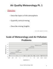 Lecture notes 7; Air quality meteorology Part 1 (handout)