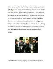 Essay on the film The Patriot Games