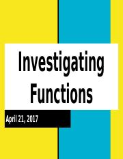Lesson 9 - Investigating Functions.pptx