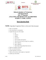 Design Analysis And Algorithm By Hari Mohan Pandey Pdf
