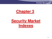 Chapter 3 - Security-Market Indexes - Slides