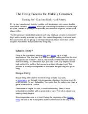 The Firing Process for Making Ceramics.docx