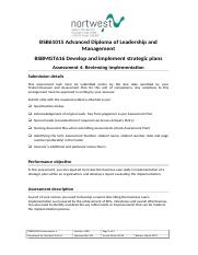 BSBMGT616 Assessment 4_Develop and implement strategic plans.doc