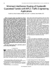 Traffic engineering theory