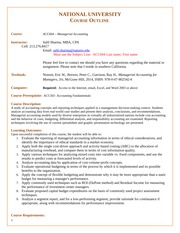 ACC 604 May 2014 - Course Outline