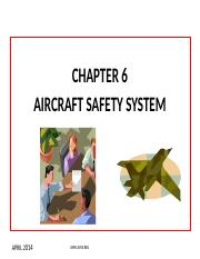 CHAPT 6 AIRCRAFT SAFETY SYSTEM [Autosaved]