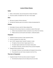 Lecture 6 Notes, Flavians