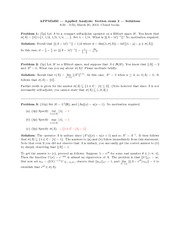 Midterm Exam 2 Spring 2013 Solution on Applied Analysis 2