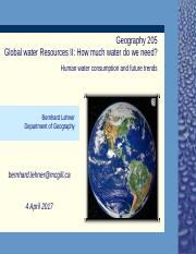 April 4 Global water use