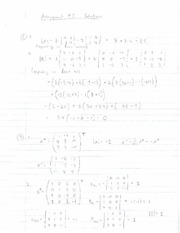 Matrix Algebra Homework 5 Solutions