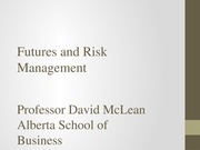Futures and Risk Management