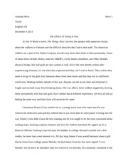 Second Year English Research paper