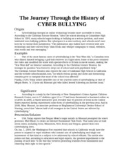 cyber bullying an epidemic essay Cyberbullying has become an epidemic in this country the new generation of  kids are growing up on the web and defining their own cultural rules a recent.