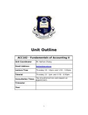 Unit Outline ACC102 Fundamentals of Accounting II - Copy.DOCX