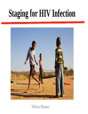 WHO Staging of HIV and AIDS