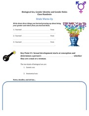 Student Handouts - Gender Identity - Spring 2014