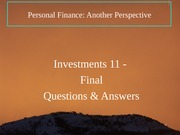 19 Investments 11 - Investments Q & A 2012-03-08