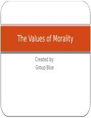 The Values of Morality.pptx