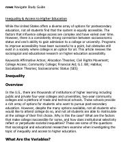 Inequality & Access to Higher Education Research Paper Starter - eNotes.pdf