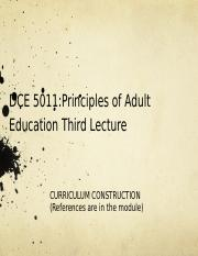 DCE 5011 3rd Lecture inhouse