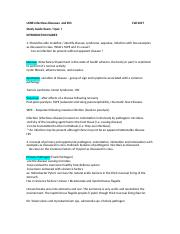 Infectious disease - study guide.doc
