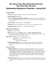 3 Pages Syllabus MAPH 609
