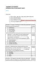 university of phoenix week 3 sociology quiz Homework help » business all business checkout  str 581 week 3 practice quiz by alex king  checkout details  university of phoenix uop.