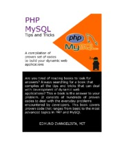 PHP and MySQL Tips and Tricks