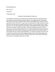acid and base titration abstract and summary.docx